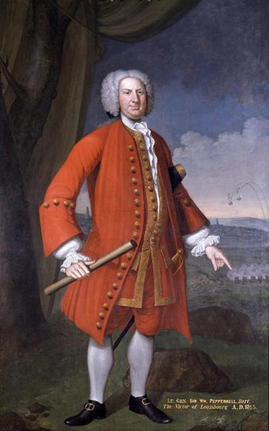 Sir William Pepperrell, painted in 1745 by John Smibert, to commemorate the successful Siege of Louisbourg.