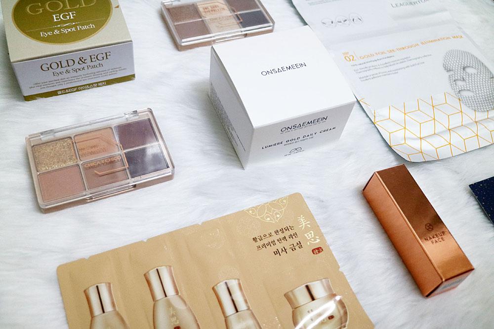 Althea Korea Gold Sparkling Box Haul and Review