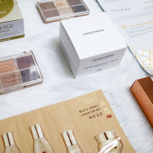 Althea Korea Gold Sparkling Box Haul and Review