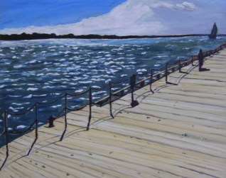 "Toronto Boardwalk (2012) - 16x20"", oil on board (sold)"