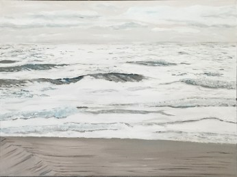 "Watching Waves (2014) - 18x24"", oil on canvas"
