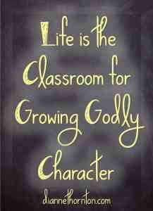 How do you respond when your carefully laid out plans go awry? God uses those situations for growing Godly character in our lives!