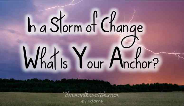 In a Storm of Change, What Is Your Anchor?