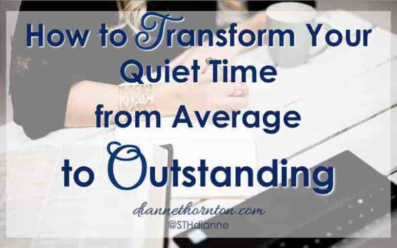 When you sit down to have your quiet time, do you anticipate hearing God's voice? Or have your quiet times become stale and routine? One simple change can transform your quiet time from average to outstanding!