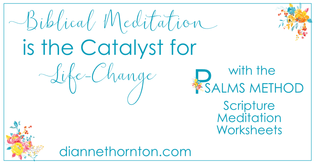 Biblical meditation is often misunderstood. It requires focus, and a plan helps! Get yours here! Biblical meditation is the catalyst for life-change.