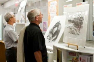 Admiring Brian's illustrations