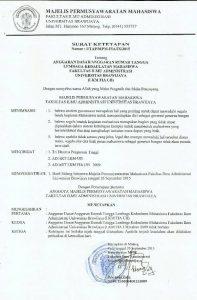 Dekanat Agendakan Amandemen AD/ART LKM FIA