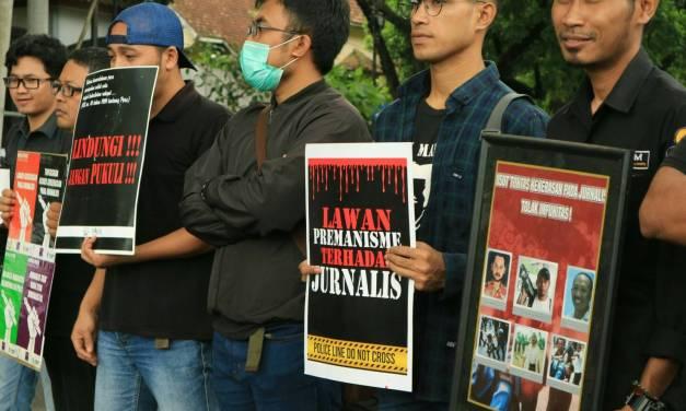 Aksi Penolakan Remisi terhadap Otak Pembunuhan Wartawan Radar Bali