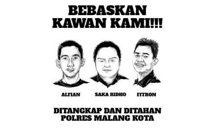 Pers Rilis: Bebaskan Tiga Pemuda yang Ditangkap dan Ditahan oleh Polres Malang