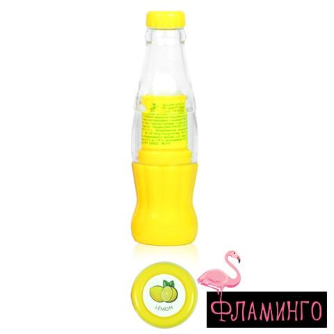 FFLEUR LB-19 LEMON Блеск-бальзам для губ JUICY LIP BALM (желт) 1