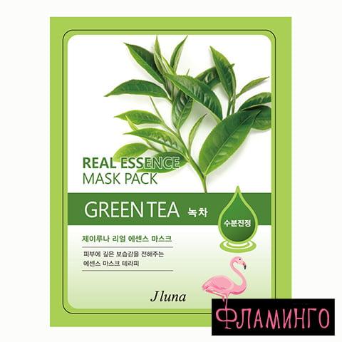 JLUNA Тканевая маска для лица с экстрактом Зеленого чая 20мл (10*100*800) 1