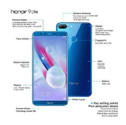 keunggulan honor 9 lite