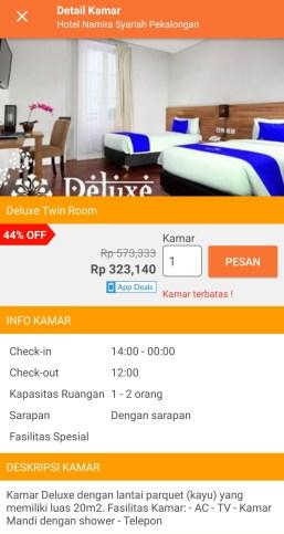 booking hotel lewat pegipegi