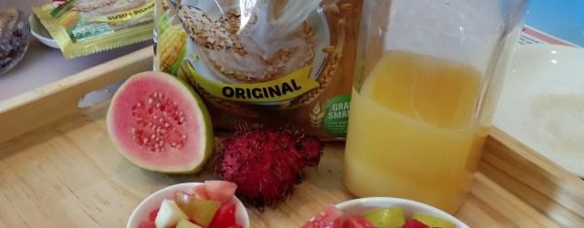nestum ceream menu sarapan yang simple