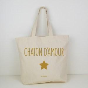 Cabas Chaton d'amour