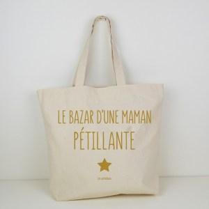 Cabas Bazar d'une maman pétillante