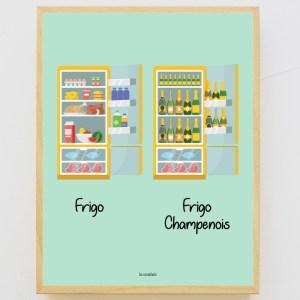 Affiche encadrée Frigo Champenois