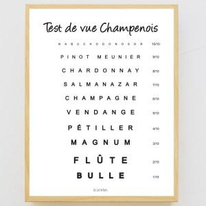 Affiche encadrée Test de vue Champenois