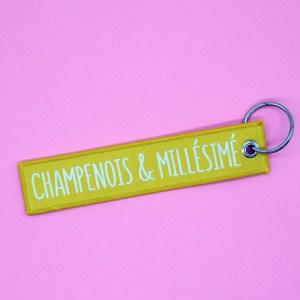 Porte-clés tissé Champenois et Millésimé
