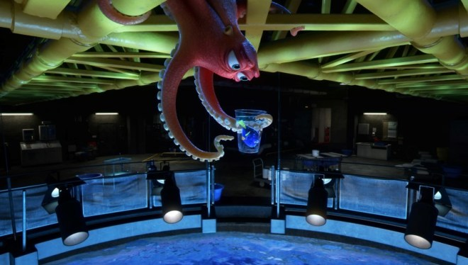 "FINDING DORY – Hank is an octopus—or actually a ""septopus"": he lost a tentacle—along with his sense of humor—somewhere along the way. When Dory finds herself at the Marine Life Institute, a rehabilitation center and aquarium, Hank reluctantly agrees to help her navigate the massive facility. Directed by Andrew Stanton, ""Finding Dory"" opens on June 17, 2016. ©2016 Disney•Pixar. All Rights Reserved."