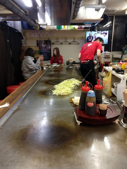 Okonomiyaki, Hiroshima, Pancake noodles, traveling with kids, family travel, diapersonaplane, Diapers On A Plane, okonomi-mura, japanese food, japanese restaurant, eating, food