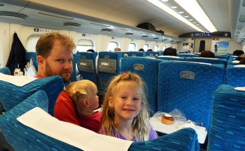 Bullet Train, JR, JR Rail Pass, Metro, Subway, Japan, Diapers on a plane, DiapersONAPLANE, traveling with kids, family travel, rush hour japan, Riding the Shinkansen, Nozomi,