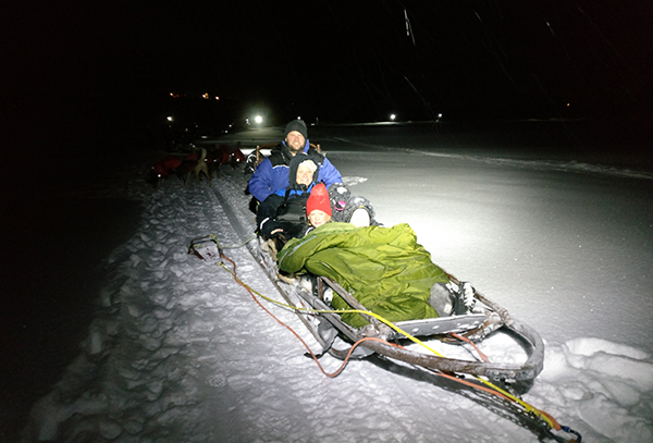 Husky Sled Ride, Tromso, Norway, Tradition, Christmas in Norway, Dogs, Sled, Snow, 2017 Year in Review, diapersonaplane, diapers on a plane, creating family memories, family travel, traveling with