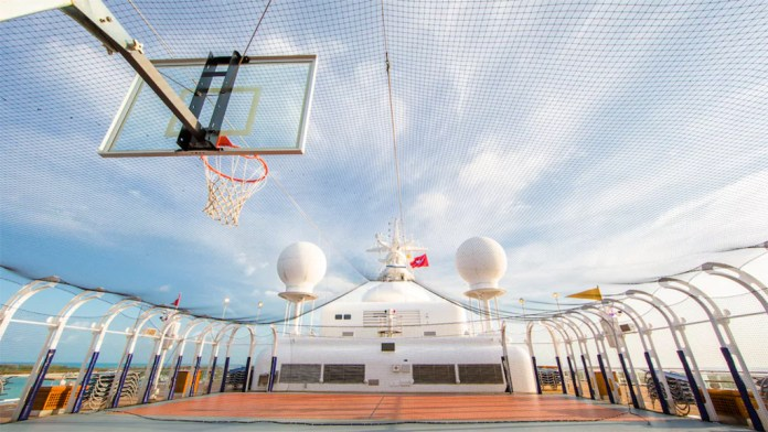 Disney Cruise, Wide World of Sports, Sports on Deck, Exercise on a Cruise, Basketball, Swimming, diapers on a plane, diapersonaplane, creating family memories, family travel, traveling with kids