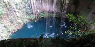 Cenote Ik Kil, Mexico, Riviera Maya, Yucatan Peninsula, Mayan Ruins, Sinkhole, diapersonaplane, diapers on a plane, traveling with kids, family travel, creating family memories