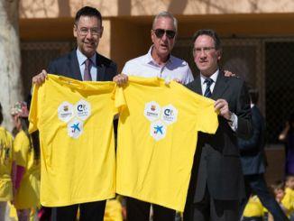 Josep Maria Bartomeu Johan Cruyff i Jaume Giró