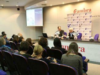 Xavier Vallvé i Jaume Marí a la presentació de la campanya solidària // Foto: APPC Tarragona