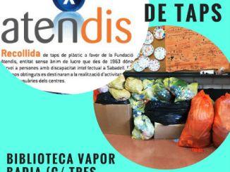 cartell jornada recollida taps plàstic atendis sabadell