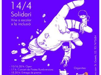 cartell open solidari escalada bloc terrassa