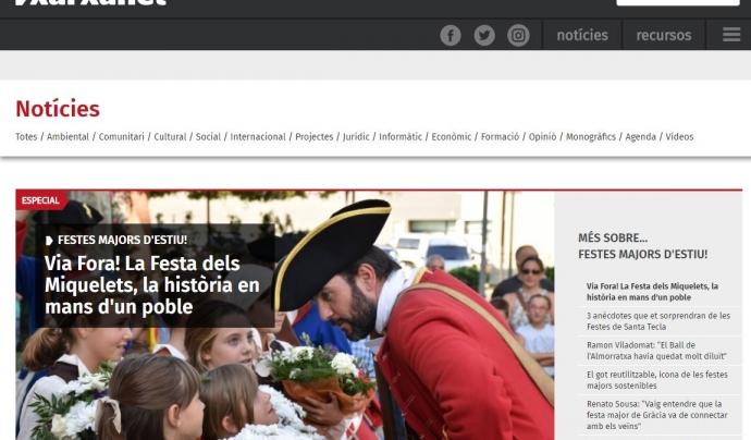 xarxanet 15 aniversari nova web disseny modern