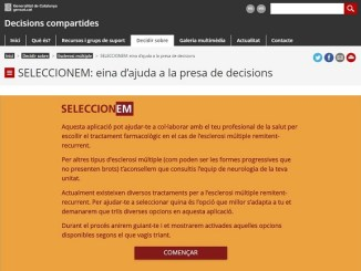 eina web salut afectats esclerosi múltiple tractament