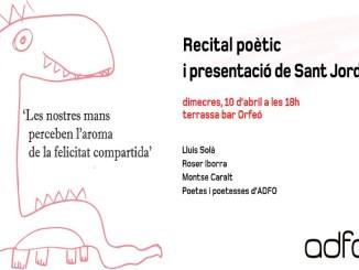 recital poètic presentació productes solidaris adfo sant jordi