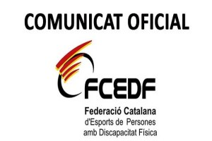 fcedf comunicat suspensió activitats coronavirus