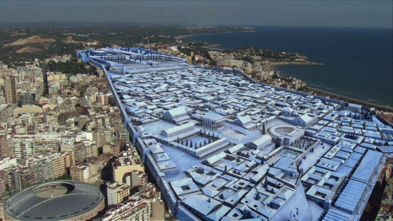 Imagen del documental donde se puede ver la Tarragona romana. Foto: Cedida DIgivision