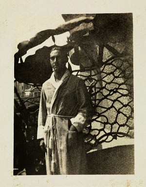 L'avi Ninus a la Pedrera; fotografia cedida per la família Baladia.