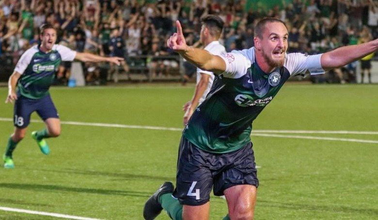 Fink marcando el gol de pase a octavos de la US Open Cup