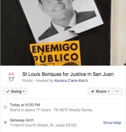 Puertorriqueños de St. Louis celebrarán protesta bajo el arco hoy día 2