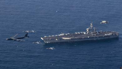 Photo of Grupo de portaaviones de EE.UU. navega por el estrecho de Ormuz