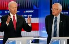 Precandidatos presidenciales democratas apoyan juicio politico a Trump en debate 5
