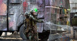 Más de un centenar de detenidos en violenta protesta en Chile