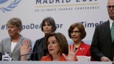Pelosi hace sonar alarma sobre cambio climático en conferencia de la ONU 2