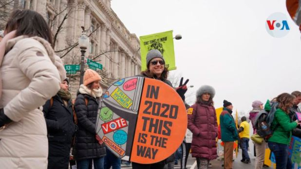 Marcha multitudinaria en Washington para reclamar más derechos para las mujeres 1