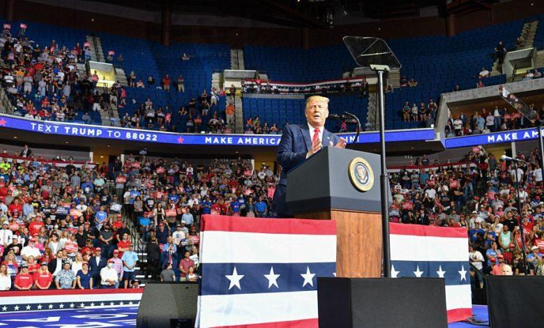 Con menos público de lo esperado, Donald Trump retomó campaña electoral en Tulsa 1