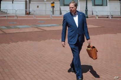 Berman llega a su oficina en Nueva York el sábado 20 de junio de 2020