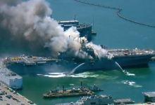 Photo of Explosión e incendio en Base Naval de San Diego deja once heridos