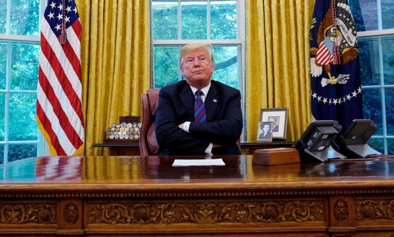 Donald Trump rompe el aislamiento y regresa al Salón Oval de la Casa Blanca 1